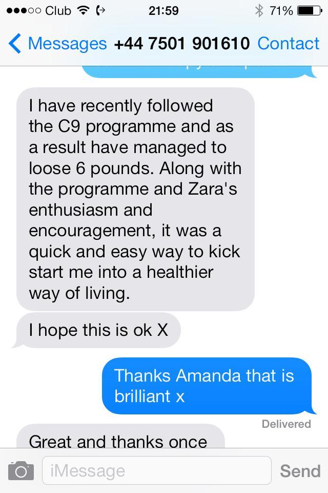 Amanda testimonial